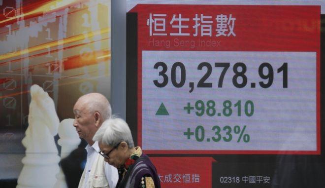 Το χρηματιστήριο του Χονγκ Κονγκ, Κίνα