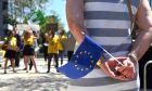 Φωτό αρχείου: Βρυξέλλες στιγμιότυπο από συγκέντρωση
