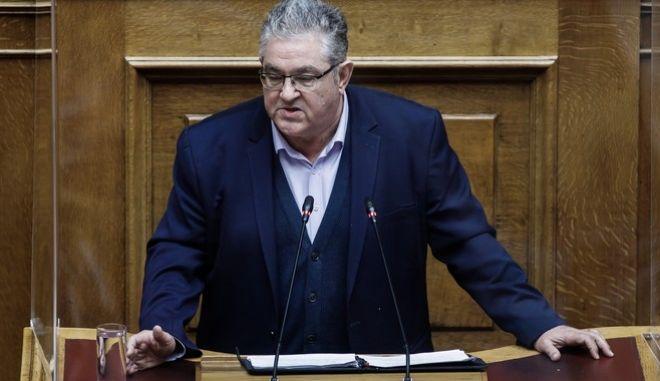 Ο Γενικός Γραμματέας του ΚΚΕ Δημήτρης Κουτσούμπας
