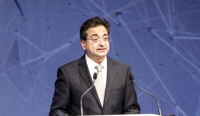 Ο Φωκίων Καραβίας, Διευθύνων Σύμβουλος της Eurobank. (EUROKINISSI/ΓΙΩΡΓΟΣ ΚΟΝΤΑΡΙΝΗΣ)