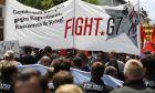 διαδηλωτές εναντίον της G7