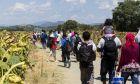 Πρόσφυγες και μετανάστες στο δρόμο για μια καλύτερη ζωή.