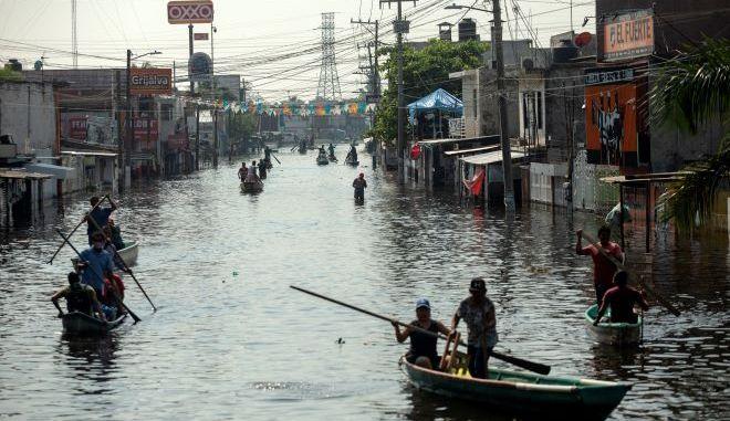 Πλημμύρες στο Μεξικό (φωτογραφία αρχείου)