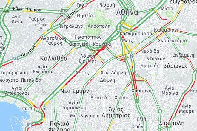 Κίνηση στους δρόμους: Κυκλοφοριακό χάος στην άνοδο της Συγγρού λόγω έργων