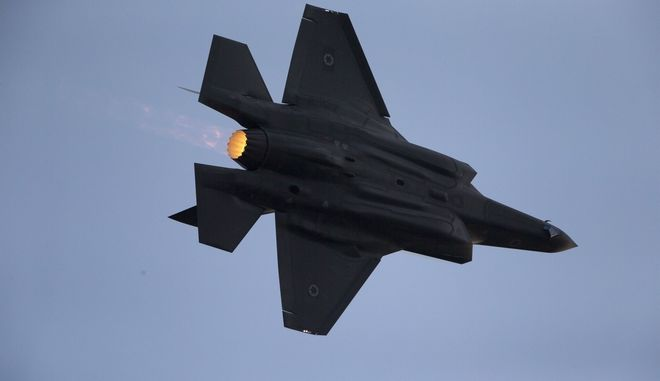 An Israeli Air Force F-35 plane performs during a graduation ceremony for new pilots in the Hatzerim air force base near the city of Beersheba, Israel, Thursday, Dec. 29, 2016. (AP Photo/Ariel Schalit)