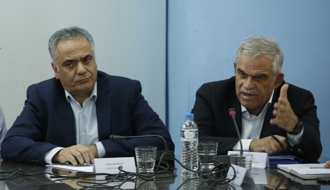 Κοινή συνέντευξη Τύπου την Παρασκευή 16 Ιουνίου 2017, στο υπουργείο Εσωτερικών, αναφορικά με την κατάσταση που επικρατεί στην περιοχή του Μενιδίου και τις παρεμβάσεις που δρομολογούνται από την κυβέρνηση και τις αρμόδιες Αρχές, από τον υπουργό Εσωτερικών, Πάνο Σκουρλέτη, τον υπουργό Παιδείας, Κώστα Γαβρόγλου, τον υπουργό Προστασίας του Πολίτη, Νίκο Τόσκα, την αναπληρώτρια υπουργό Εργασίας, Θεανώ Φωτίου, τον Αναπληρωτή υπουργού Υγείας, Παύλο Πολάκη, τον Υφυπουργό Πολιτισμού και Αθλητισμού, Γιώργο Βασιλειάδη και εκπροσώπους της Περιφέρειας Αττικής και του Δήμου Αχαρνών. (EUROKINISSI/ΣΤΕΛΙΟΣ ΜΙΣΙΝΑΣ)