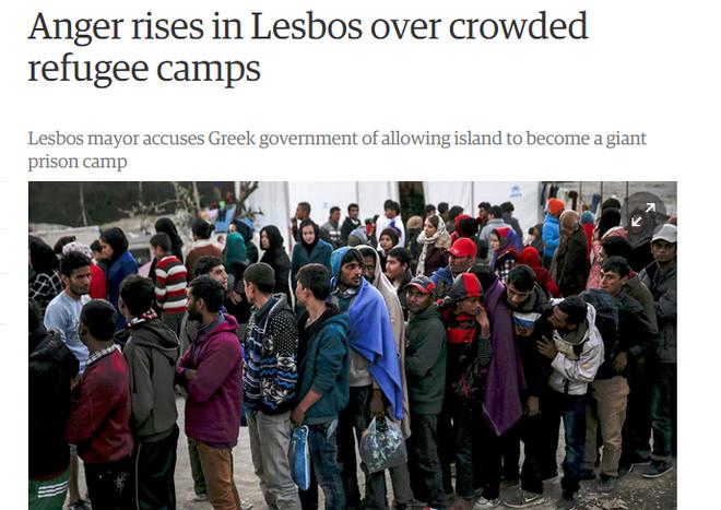 Guardian για προσφυγικό: Αυξάνεται η οργή στην Λέσβο