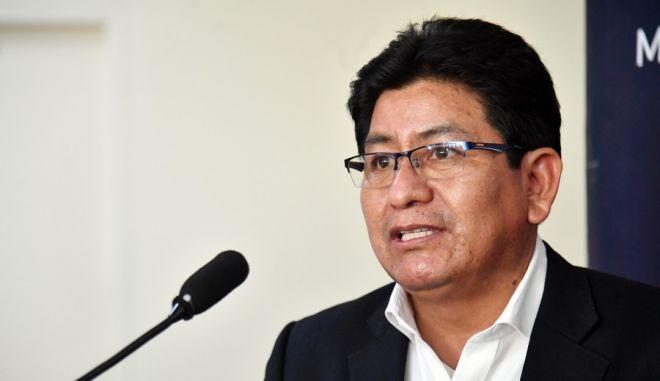 Ο υπουργός Δημοσίων Έργων, Υπηρεσιών και Στέγης της Βολιβίας Έδγαρ Μοντάνιο