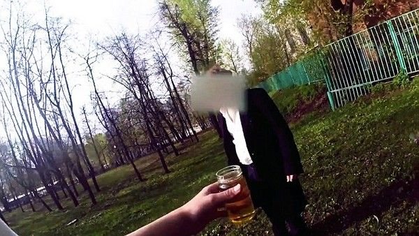 Pic shows: People drinking wee for money.  A cruel, rich kid video maker finally got his just desserts when he approached a man asking him to drink urine for money.  Grisha Mamurin, 16, grandson of Russian billionaire Igor Nekludov, is making sick short films about what desperate people will do for cash.  But he got smashed to the ground when he approached a man sitting on a park bench and offered him 130 GBP to drink his wee on film.  Cocky Grisha, whose videos have had 600,000 hits, felt the full force of the mans right hook and went tumbling over in a park in Moscow, Russia, and then ran off nursing a black eye.  Unrependent he said: