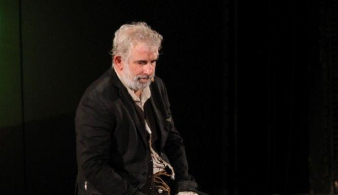 Ο Πέτρος Φιλιππίδης (Αρχείο - Από την παράσταση Πλούτος του Αριστοφάνη)
