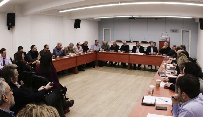 Συνεδριαση  της Συντονιστικής Γραμματείας της Οργανωτικής Επιτροπής Συνεδρίου του Κινήματος Αλλαγής, υπό την προεδρεία του Συντονιστή Βασίλη Κεγκέρογλου.Η συνεδρίαση θα πραγματοποιηθεί το απόγευμα στις 17:00 στα Γραφεία της ΔΗΜΑΡ . Στην Συντονιστική Γραμματεία εκ μέρους των κομμάτων και των κινήσεων μετέχουν: Αναστασοπούλου Ολυμπία, Αντωνίου Τόνια, Ασκούνης Κώστας, Βαρδίκος Χαράλαμπος, Διακουλάκης Νίκος, Δρέττα Αθηνά, Ιωσήφ Νίκος, Καπετανγιάννης Βασίλης, Καρκατσούλης Παναγιώτης, Καρχιμάκης Μιχάλης, Κατρίνης Μιχάλης, Κορακίδης Οδυσσέας, Λάμψια Πωλίνα, Μαργαρίτης Θόδωρος, Μεϊμάρογλου Γιάννης, Μπίστης Νίκος, Μπουλμπασάκος Γιώργος, Μωραΐτης Θάνος, Παπαθανάση Αφροδίτη, Πίτσος Γιώργος, Πρωτόπαπας Χρήστος, Ρέππας Δημήτρης, Σαλαγιάννης Νίκος, Σαχινίδης Φίλιππος, Σπυρόπουλος Ανδρέας, Τσιόδρας Δημήτρης, Χάλαρης Μιχάλης, Χατζησωκράτης Δημήτρης, Χρυσοχοΐδης Μιχάλης, Ψαριανός Γρηγόρης. Επίσης, στην Συντονιστική Γραμματεία μετέχουν εκ μέρους της επικεφαλής του Κινήματος Αλλαγής, ο Διευθυντής του Πολιτικού της Γραφείου Μανώλης Όθωνας και από ένας εκπρόσωπος των μελών του Πολιτικού Συμβουλίου.//ΧΡΗΣΤΟΣ ΜΠΟΝΗΣ//EUROKINISSI