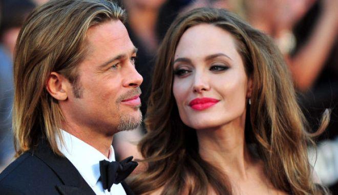 Brad Pitt y Angelina Jolie llegan a la alfombra roja de los Premios de la Academia 84  en el centro de Hollywood y las montaas en la seccin Hollywood de Los Angeles en febrero 26, 2012. UPI / Kevin Dietsch