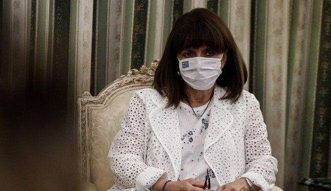 H Πρόεδρος της Δημοκρατίας Κατερίνα Σακελλαροπούλου