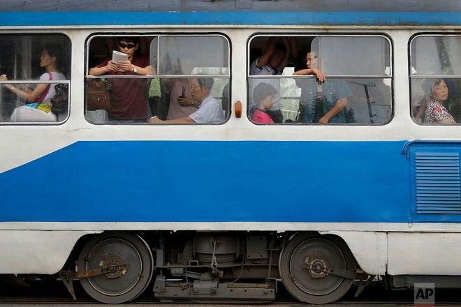 Γεμάτο τρόλει στην βορειοκορεατική πρωτεύουσα