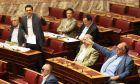 ΒΟΥΛΗ-Ο πρωθυπουργός Γ. Παπανδρέου (φωτογραφία) απαντά σε ερώτηση του προέδρου του ΛΑΟΣ Γ. Καρατζαφέρη σχετικά με τα μέτρα δημοσιονομικής προσαρμογής, που θα ενταχθούν στο Μεσοπρόθεσμο Πρόγραμμα και σε ερώτηση του προέδρου του ΣΥΡΙΖΑ Α. Τσίπρα σχετικά με την υπογραφή του Νέου Μνημονίου και τις συνέπειές του στον ελληνικό λαό// ΣΤΗ ΦΩΤΟΓΡΑΦΙΑ Ο ΠΡΟΕΔΡΟΣ ΤΟΥ ΣΥΡΙΖΑ ΑΛΕΞΗΣ ΤΣΙΠΡΑΣ ΚΑΙ Ο ΑΝΤΙΠΡΟΕΔΡΟΣ ΤΗΣ ΚΥ ΒΕΡΝΗΣΗΣ ΘΕΟΔΩΡΟΣ ΠΑΓΚΑΛΟΣ.(EUROKINISSI-ΓΙΑΝΝΗΣ ΠΑΝΑΓΟΠΟΥΛΟΣ)