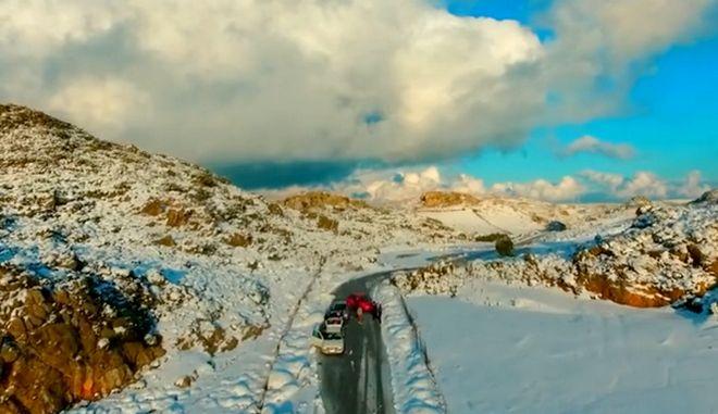 Οι χιονισμένες βουνοκορφές της Κρήτης