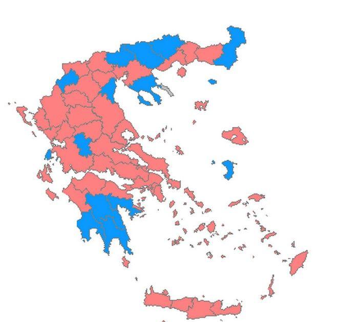 Πώς ήταν ο εκλογικός χάρτης στις Εθνικές Εκλογές του 2015
