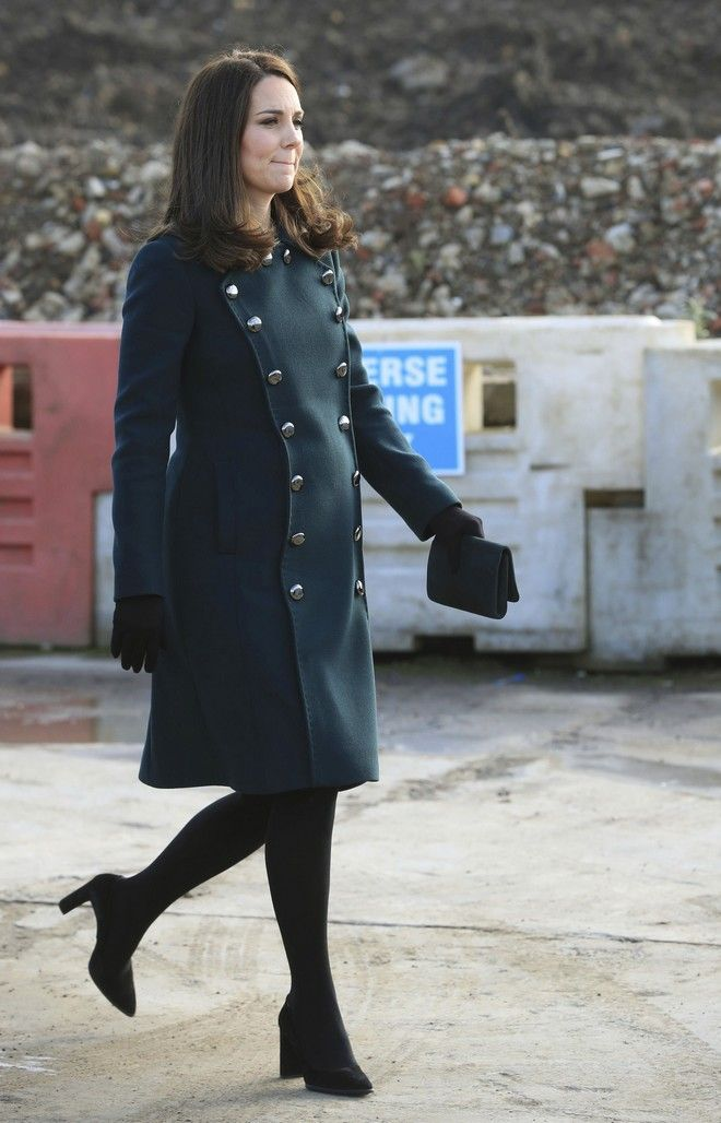 Kate  Duchess of Cambridge during a visit to the Northern Spire bridge across the River Wear in Sunderland northeast England, Wednesday Feb. 21, 2018.  (Danny Lawson/PA via AP)