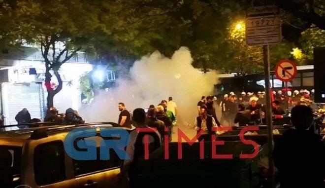 Στιγμιότυπο από την πορεία για την γενοκτονία των Αρμενίων στη Θεσσαλονίκη