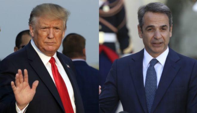 Ο Αμερικανός Πρόεδρος και ο Έλληνας Πρωθυπουργός.