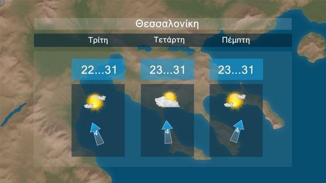 Καιρός: Κανονικές θερμοκρασίες αλλά και τοπικές βροχές