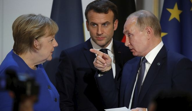 Άγγελα Μέρκελ και Βλαντίμιρ Πούτιν