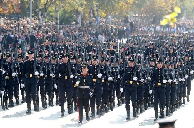 Στρατιωτική παρέλαση για την επέτειο της 28ης Οκτωβρίου στην Θεσσαλονίκη