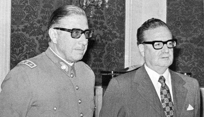Ο Πινοσέτ (αριστερά) και ο Αλιέντε (δεξιά). Φωτογραφία αρχείου.