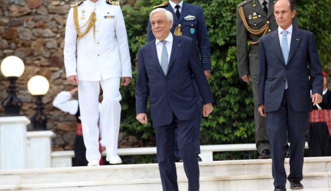 Ο Πρόεδρος της Δημοκρατίας Προκόπης στο Προεδρικό Μέγαρο