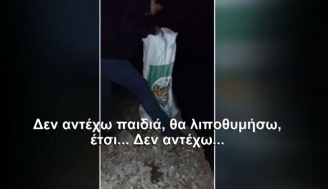 Κτηνωδία στην Ανδρίτσαινα: Έβαλαν 18 κουτάβια σε τσουβάλια και τα πέταξαν σε γκρεμό