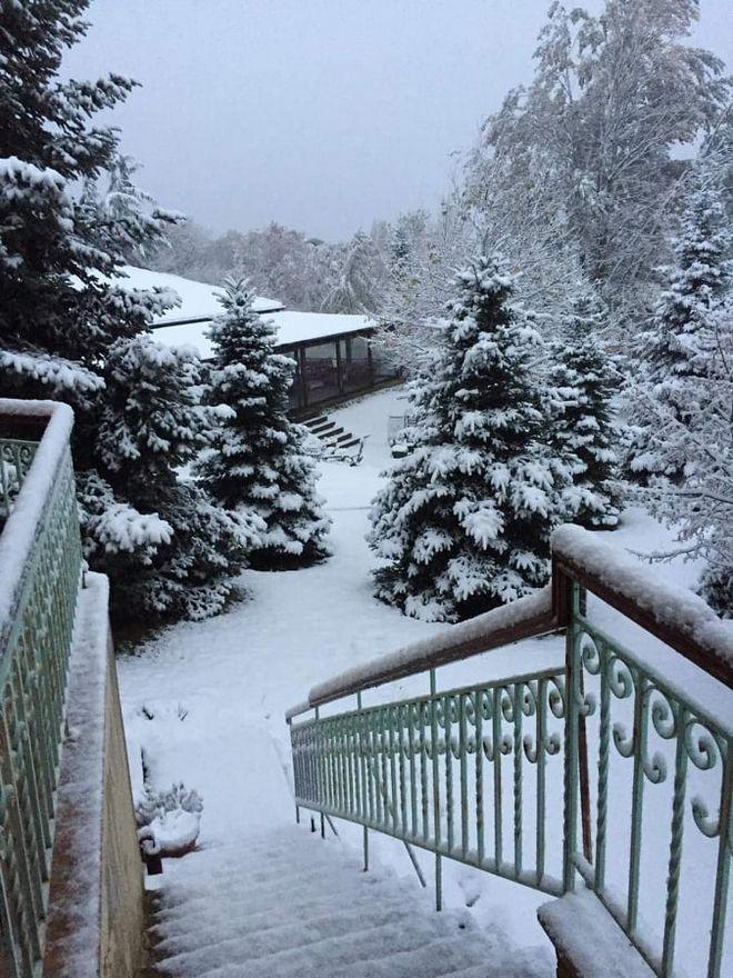 Χιόνια στη Βάβδο Χαλκιδικής