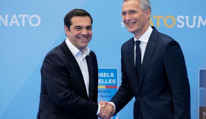 Σύνοδος Κορυφής του ΝΑΤΟ στις Βρυξέλλες την Τετάρτη 11 Ιουλίου 2018. (EUROKINISSI/Γ.Τ. Πρωθυπουργού/Andrea Bonetti)