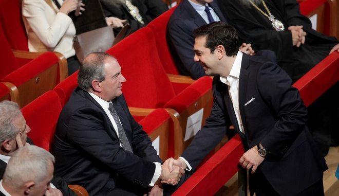 Ο Κώστας Καραμανλής και ο Αλέξης Τσίπρας