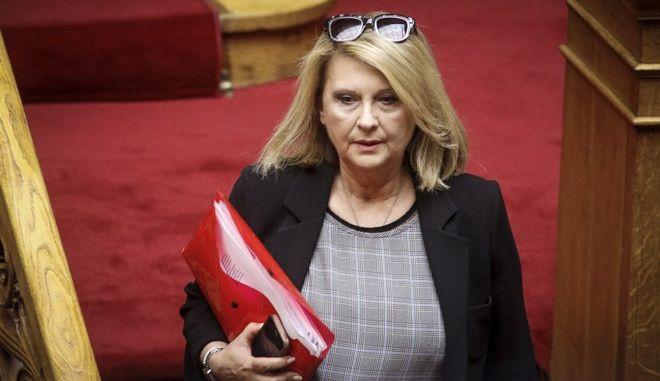 Η βουλευτής της ΝΔ Σοφία Βούλτεψη στη Βουλή