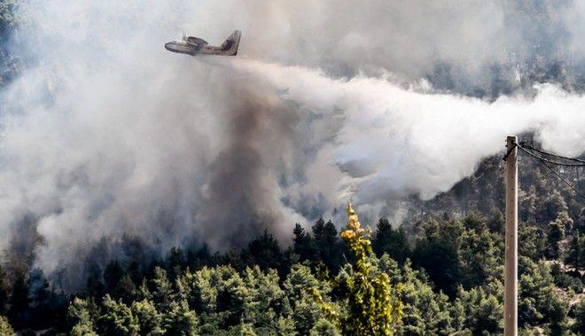 Φωτιά στα Βίλια: Για τρίτη ημέρα η μάχη με τις φλόγες - Στάχτη περίπου 50.000 στρέμματα δάσους