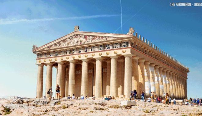 Πώς θα ήταν ο Παρθενώνας κι άλλα έξι ιστορικά μνημεία αν δεν είχαν υποστεί ζημιές