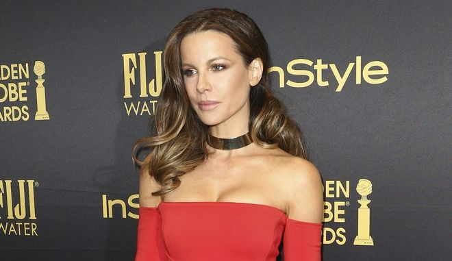 Kate Beckinsale arrives at the HFPA and InStyle celebration for the 2017 Golden Globe awards season at Catch LA on Thursday, Nov. 10, 2016, in West Hollywood, Calif. (Photo by John Salangsang/Invision/AP)