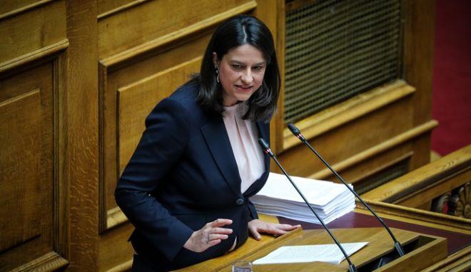 Συζήτηση νομοσχεδίου του υπουργείου Παιδείας στην Ολομέλεια της Βουλής την Μεγάλη Δευτέρα 22 Απριλίου 2019. (EUROKINISSI/ΓΙΩΡΓΟΣ ΚΟΝΤΑΡΙΝΗΣ)