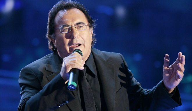 "Al Bano sings ""Nel perdono"" during the ""Festival di Sanremo"" Italian songs contest, in San Remo, Italy, Wednesday, Feb. 28, 2007. (AP Photo/Luca Bruno)"