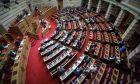 Στιγμιότυπο από συνεδρίαση της Βουλής