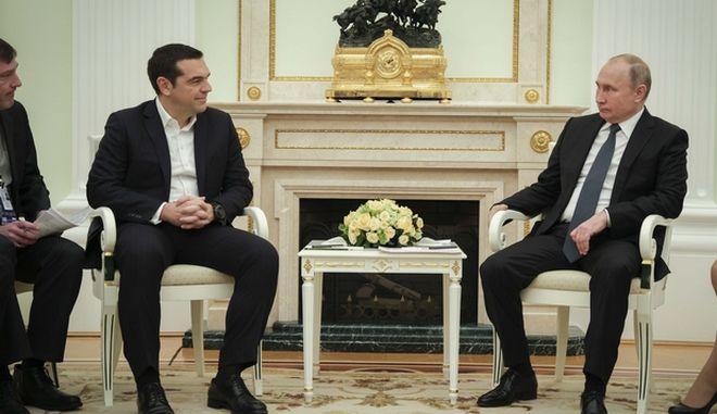Συνάντηση του Πρωθυπουργού Αλέξη Τσίπρα με τον Ρώσο Πρόεδρο Βλαντιμιρ Πούτιν, στη Μόσχα