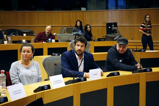 Γεωργούλης, Βρανά και Ρέλλας στην ημερίδα στο Ευρωπαϊκό Κοινοβούλιο με θέμα την Πολιτιστική Προσβασιμότητα ατόμων με αναπηρία