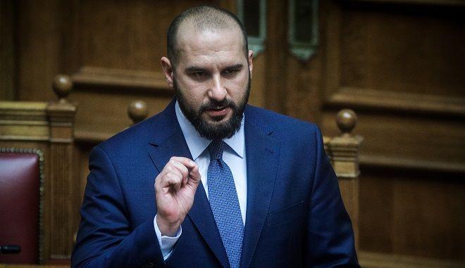 Ο Δημήτρης Τζανακόπουλος στη Βουλή