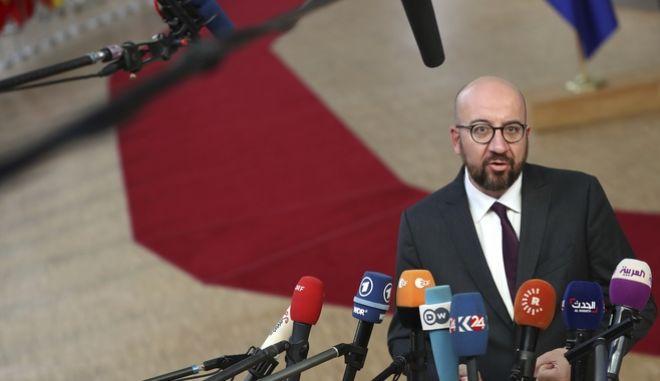 O πρωθυπουργός του Βελγίου, Σαρλ Μισέλ