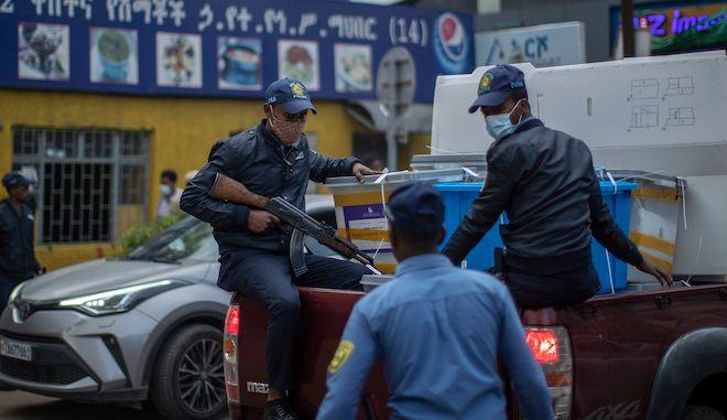 Οπλισμένοι αστυνομικοί στην Αιθιοπία, 22 Ιουνίου 2021