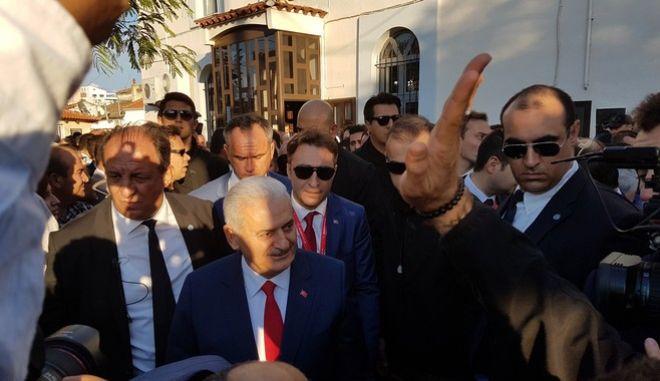ΚΟΜΟΤΗΝΗ- Επίσκεψη Τούρκου Πρωθυπουργό Μπιναλί Γιλντιρίμ  στο Κιρ Τζαμί στην Κομοτηνή .(EUROKINISSI- Παρατηρητής της Θράκης)