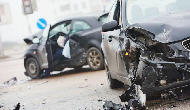 Φωτογραφία αρχείου απο τροχαίο ατύχημα.