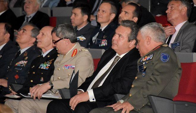 Ο Υπουργός Εθνικής Άμυνας Πάνος Καμμένος στο 6ο Συνέδριο Αεροπορικής Ισχύος, στο Αμφιθέατρο της Σχολής Ικάρων