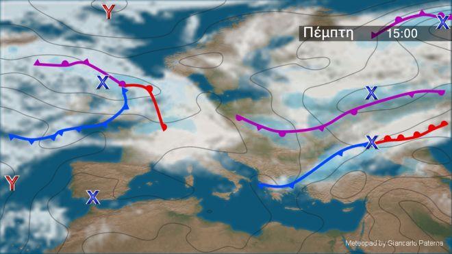 Καιρός: Ισχυρές καταιγίδες στα κεντρικά και βόρεια και πτώση της θερμοκρασίας την Πέμπτη