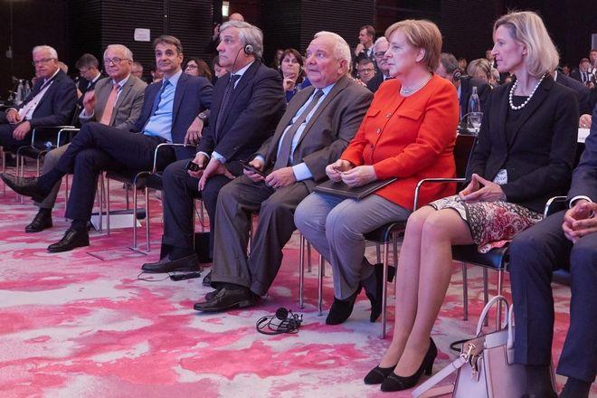 Ο Πρόεδρος της Νέας Δημοκρατίας, Κυριάκος Μητσοτάκης, στο Μόναχο, στη συνάντηση της κοινοβουλευτικής ομάδας του Ευρωπαϊκού Λαϊκού Κόμματος (EPP Group Study Days). (EUROKINISSI/ΓΡΑΦΕΙΟ ΤΥΠΟΥ ΝΔ/ΔΗΜΗΤΡΗΣ ΠΑΠΑΜΗΤΣΟΣ)
